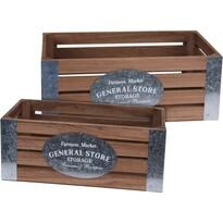 Sada dekoračných úložných boxov Farmers Market, 2 ks