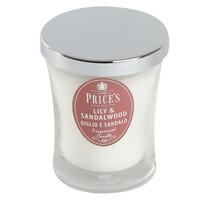 Price´s vonná svíčka ve skle ľalia a santalové drevo 9,5 cm