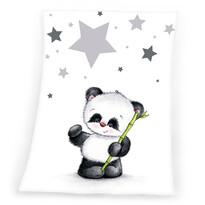 Dětská deka Fynn Star Panda, 75 x 100 cm