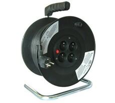 Solight Predlžovací kábel na bubne 4 zásuvky dĺžka 25 m čierny