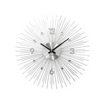 Nástenné hodiny Lavvu Crystal Lines LCT1140 strieborná, pr. 49 cm