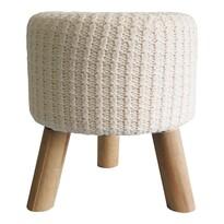 StarDeco Pletená stolička bílá, 35 cm