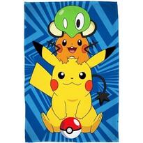 Fleecová deka Pokémon Pikachu, 100 x 150 cm