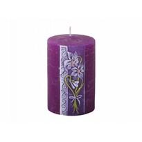 Lumânare sculptată Violeta, cilindru