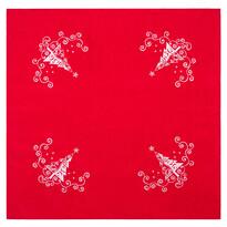 Serweta Choinka Ornament czerwony, 85 x 85 cm