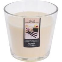 Svíčka ve skle Winter Vanilla, pr. 13,5 cm