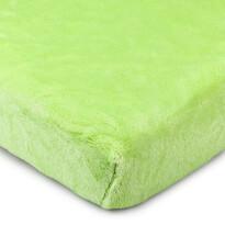 Cearşaf microflanelă 4Home, verde,