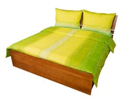 Bavlnené obliečky Hladina zelená, 240 x 220 cm, 2 ks 70 x 90 cm