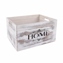Dřevěná bedýnka Home, 40 x 30 cm