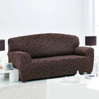 Multielastyczny pokrowiec Lazos na fotel brązowy
