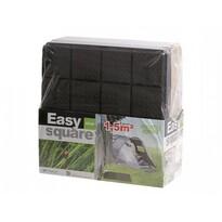 Płytki ogrodowe Easy Square 40x40x2 cm, 9 sztuk czarny,