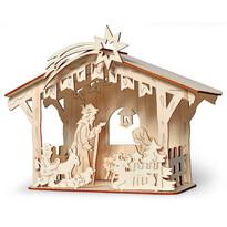 Dřevěný betlém stavebnice