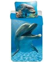 Bavlněné povlečení Delfín blue, 140 x 200 cm, 70 x 90 cm