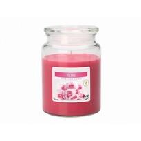 Lumânare parfumată în pahar Trandafir, 500 g