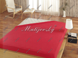 Matějovský jersey prestieradlo červená, 160 x 200