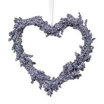 Závěsné srdce Levandule, pr. 15 cm