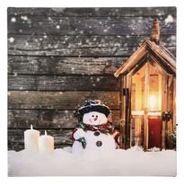 LED Obraz na plátne Homme de neige, 30 x 30 cm