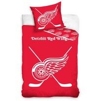 Pościel bawełniana świecąca NHL Detroit Red Wings, 140 x 200 cm, 70 x 90 cm