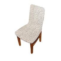 Luxusný poťah Andrea na stoličku bielo-čierna, sada 2 ks
