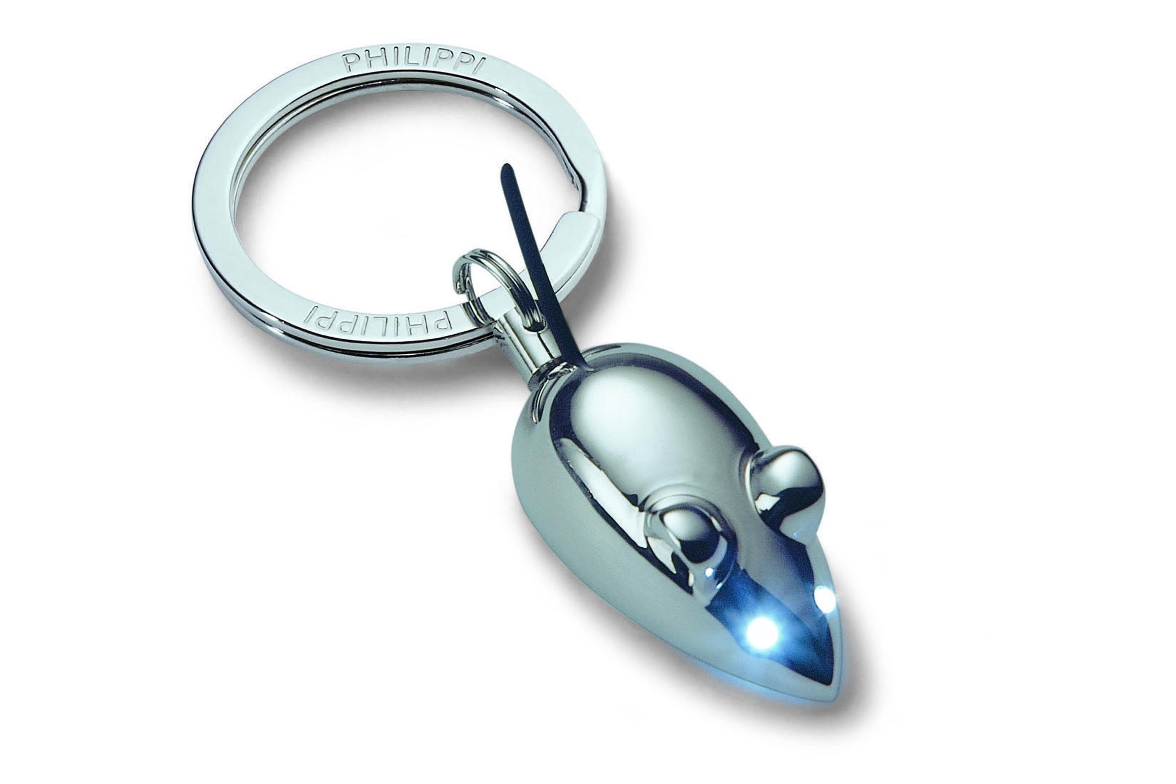 Přívěsek na klíče Myška, leštěný chrom