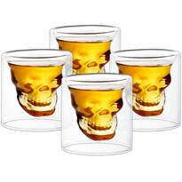 4home Kieliszek do wódki Skull Hot&Cool 20 ml, 4 szt.