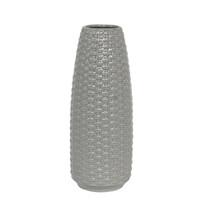 Keramická váza Knitt, šedá
