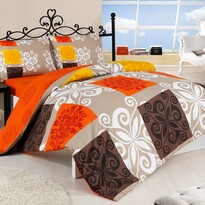 Sedef pamut ágyneműhuzat narancssárga