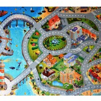 Dywan dla dzieci Ultra Soft Miasto, 130 x 180 cm