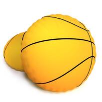 Tvarovaný 3D polštářek Basketbalový míč Baskeťák, 40 cm
