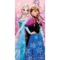 Osuška Ľadové kráľovstvo Frozen pink 02, 70 x 140 cm