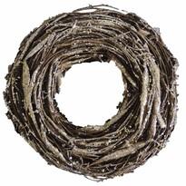 StarDeco Dekorativní věnec Proutí bronzová, pr. 28 cm