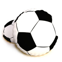 Tvarovaný 3D polštářek Fotbalový míč Kopačák, 40 cm