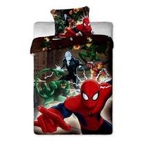 Lenjerie de pat pentru copii Spiderman maro 2015, 140 x 200 cm, 70 x 90 cm