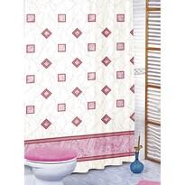 Perdea de duș Pătrate roz, 180 x 200 cm