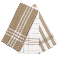 Diane konyhatörlő bézs színű, 45 x 70 cm, 3 bd-os szett