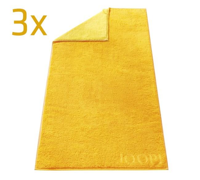Ručník Doubleface JOOP!, žlutá, sada 3 ks, 50 x 100 cm