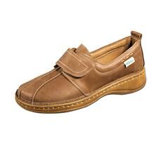 Orto Plus Dámska obuv na suchý zips veľ. 40, hnedá