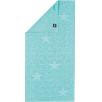 Cawö Frottier ręcznik Star niebieski, 50 x 100 cm