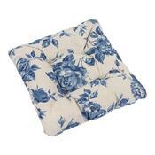 Sedák Ivo růže modrá, 40 x 40 cm, sada 2 ks
