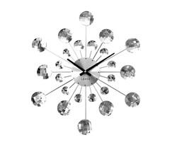 Zegar ścienny Lavvu Crystal Sunlight srebrny, śr. 49 cm