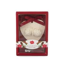 Ceramică de Crăciun parfumată cu ulei Scorţişoară şi mărroşu, 15 cm