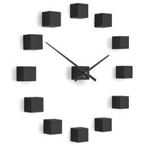 Future Time FT3000BK Cubic black Design falra ragasztható óra, átmérő 50 cm