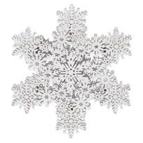 Vianočná závesná dekorácia Cardolo biela, 4 LED