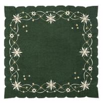 Obrus świąteczny Gwiazda betlejemska zielony, 120 x 140 cm