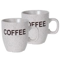 Sada kameninových hrnčekov Cofee 150 ml, 2 ks, sv. sivá