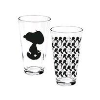 Sklenice čiré Snoopy 400 ml, 2 ks