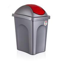 Multipat odpadkový kôš červená