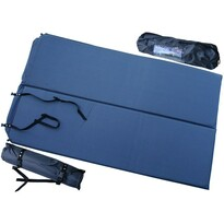 Samonafukovacia karimatka pre 2 osoby modrá, 186 x 110 x 2,5 cm