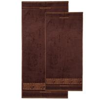 4Home komplet ręczników Bamboo Premium brązowy, 70 x 140 cm, 50 x 100 cm