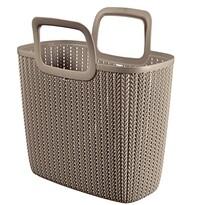 Curver 03672-X59 nákupní taška Knit 25 l, hnědá